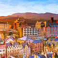 Overlooking The Grassmarket In Beautiful Edinburgh by Mark Tisdale