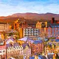 Overlooking The Grassmarket In Beautiful Edinburgh by Mark E Tisdale