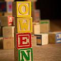 Owen - Alphabet Blocks by Edward Fielding