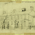 Owen House, 1860-1865, Drawing On Cream Paper Pencil by Quint Lox