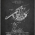 Owen Revolver Patent Drawing From 1899- Dark by Aged Pixel