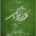 Owen Revolver Patent Drawing From 1899- Green by Aged Pixel