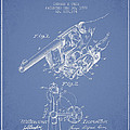 Owen Revolver Patent Drawing From 1899- Light Blue by Aged Pixel