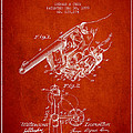 Owen Revolver Patent Drawing From 1899- Red by Aged Pixel