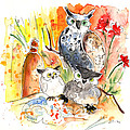 Owl Family In Velez Rubio by Miki De Goodaboom