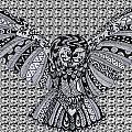 Owl In Flight Pattern by Karen Larter