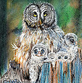 Owl Series - Owl 4 by Judith Rice