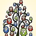 Owl Tree by Anastasiya Malakhova
