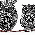 Owls 10 by Karen Larter