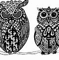 Owls 9 by Karen Larter
