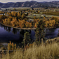 Oxbow Bend In The Wenatchee River by Robert Woodward