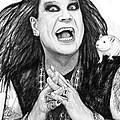 Ozzy Osbourne Art Drawing Sketch Portrait by Kim Wang