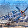 P-47 Thunderbolt Airplane Wwii Airfield by Randy Steele