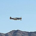 P-51  Mustang Flyby  Nellis  Afb by Carl Deaville