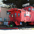 P Town Cafe Caboose Pacifica California 5d22659 by Wingsdomain Art and Photography
