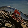 P38 Red Bull Lightning Warbird by Richard John Holden RA