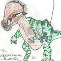 Pachycephalosaurus by Fred Hanna