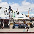 Pacific Coast Kites And Paradise Dogs On The Municipal Wharf At The Santa Cruz Beach Boardwalk Calif by Wingsdomain Art and Photography