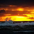 Pacific Sunset Drama by Gary Olsen-Hasek