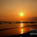 Pacific Sunset Reflection by Debby Pueschel