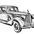 Packard Luxury Antique Car Illustration by Keith Webber Jr