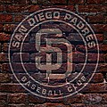 Padres Baseball Graffiti On Brick  by Movie Poster Prints