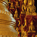 Pagoda And Buddhist Statues by Keren Su