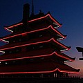 Pagoda At Sunset by Susan Patrie
