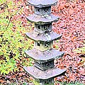 Pagoda In Autumn by James Potts