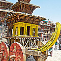 Pagoda-style Carriage In Bhaktapur Durbar Square In Bhaktapur-nepal by Ruth Hager