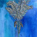 Painted Blue Palm by Kandy Hurley