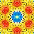 Painted Cymatics 407.66hz by Derek Gedney