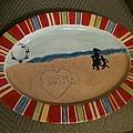 Painted Dish by Gwenn Dunlap