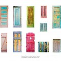 Painted Doors And Window Panes by Asha Carolyn Young and Daniel Furon