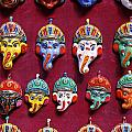 Painted Elephant Souvenirs In Kathmandu by Robert Preston