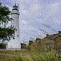 Painted Fort Gratiot Light House by LeeAnn McLaneGoetz McLaneGoetzStudioLLCcom