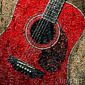 Painted Guitar - Music - Red by Barbara Griffin