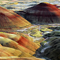 Painted Hills, Sunset, John Day Fossil by Michel Hersen