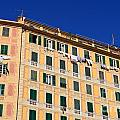 painted homes in Camogli by Antonio Scarpi