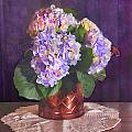 Painted Hydrangeas by Grace Dillon