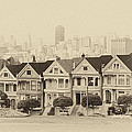Painted Ladies At Alamo Square by Wim Slootweg