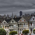 Painted Ladies Ready For The Rain by David Bearden