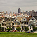 Painted Ladies Row Houses And San Francisco Skyline by Jit Lim