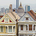 Painted Ladies Row Houses By Alamo Square by Jit Lim