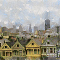 Painted Ladies - San Francisco by Paulette B Wright