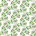 Painted Nature Coorsinating Foliage Leaves Pattern by MGL Meiklejohn Graphics Licensing
