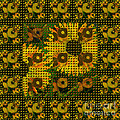 Painted Sunflower Abstract by Barbara Moignard