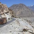 Painted Truck On The Karakorum Highway In Pakistan by Robert Preston