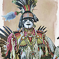 Painted  Warrior  by Anita Hubbard