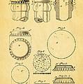 Painter Bottle Cap Patent Art 1892 by Ian Monk